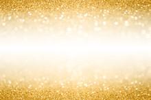 Gold Glitter Border Background...