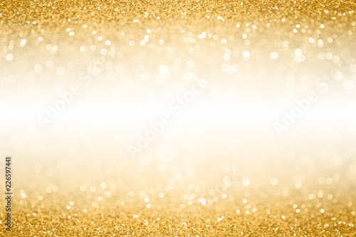 gold glitter border background for anniversary birthday or