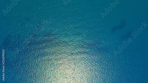 Bird's eye view of sea ocean water surface texture background Fototapeta
