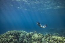 Woman Snorkeling In Sea, Kailu...