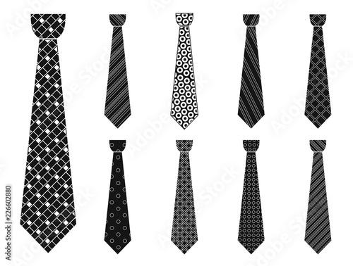 Fotografie, Obraz  Elegant tie icon set