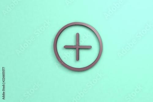 Photo violet color Illustration of Add-on on light background