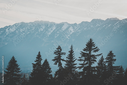Aluminium Prints mountains in winter