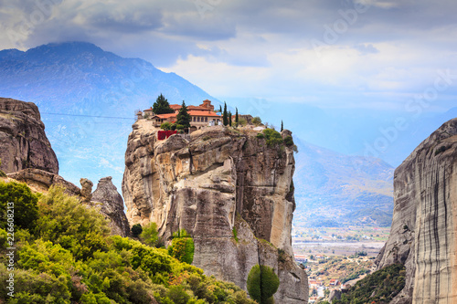 Fotobehang Historisch geb. Monastery of the Holy Trinity i in Meteora, Greece