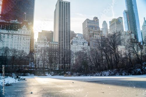 Photo Stands New York Blick auf Hochhäuser im Central Park Winter
