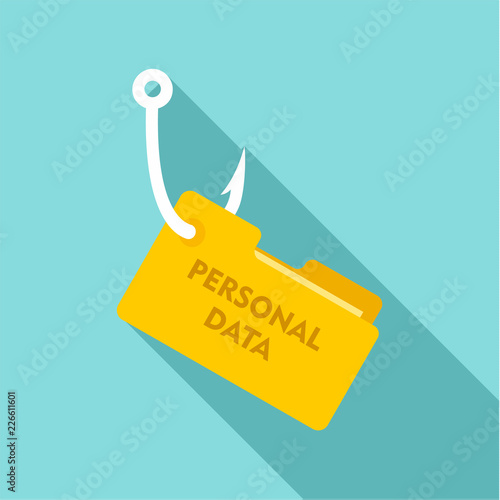 Fotografía  Phishing personal data icon