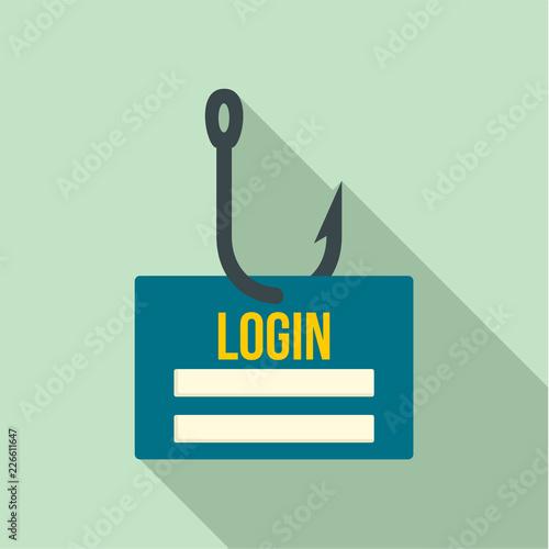 Phishing login icon  Flat illustration of phishing login