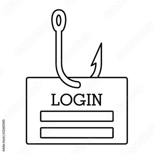 Phishing login icon  Outline illustration of phishing login