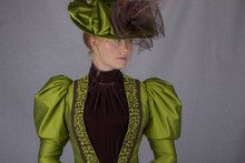 Victorian Woman In Green Ensem...