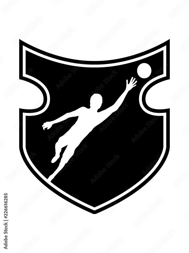 Gamesageddon Stock Schwarz Cool Schild Wappen Torwart
