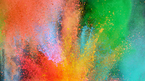 obraz PCV Multi-color powder explosion on black background