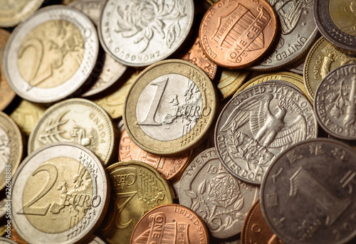 Background Of Euro Coins Money United Kingdom Pound Coin Us Group