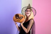 Funny Pumpkin. Jack-o-lantern....