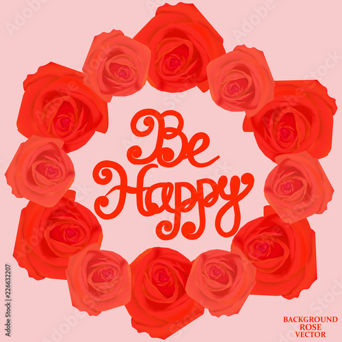 Photo  Be happy background. Vector