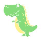 Fototapeta Dinusie - flat color illustration of a cartoon dinosaur