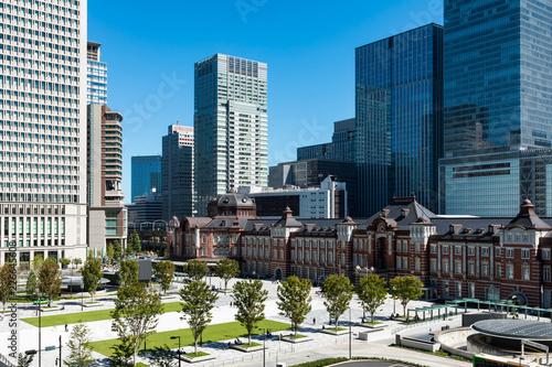 (東京都ー都市風景)ビル展望階から見る東京駅6 Canvas Print