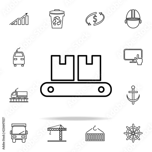 train front view outline icon  Cargo logistic icons