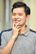 Good Looking Filipino Male Thinking