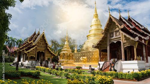In de dag Bedehuis Wat Phra Sing, Chiang Mai, Thailand