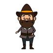 pilgrim man character icon