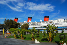 Queen Mary In Long Beach, Cali...