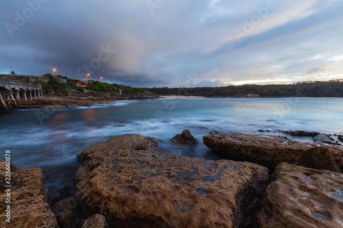 A cloudy morning coastline view at La Perouse, Sydney, Australia.