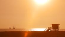 Sunset Over The Beach 2