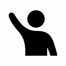 Hand Raised Vector Icon