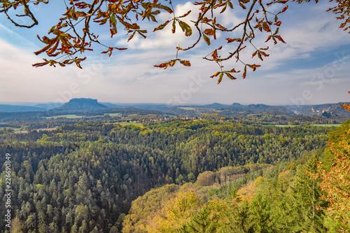 Photo herrliche Natur - Blick von der Brand-Baude über den Nationalpark Sächsiche Schw