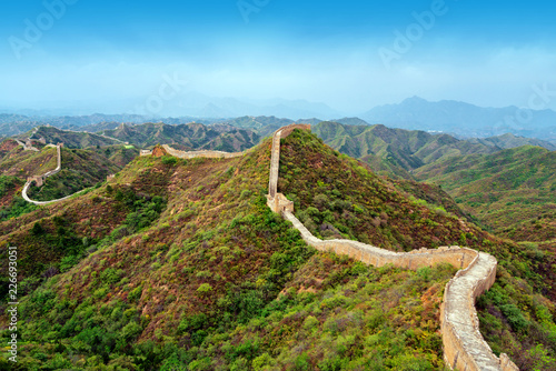 Deurstickers Chinese Muur The Great Wall of China.