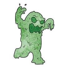 Cartoon Doodle Slime Monster
