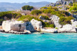 The ruins of the ancient city on the island of Kekova. Turkey