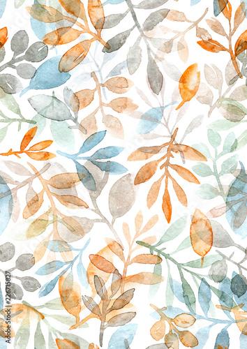 akwarela-recznie-malowane-liscie-i-galezie