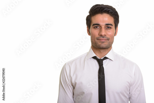 Fototapety, obrazy: Young handsome Persian man against white background