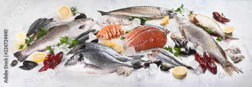 Foto Fresh fish and seafood