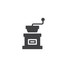 Coffee Grinder Vector Icon. Filled Flat Sign For Mobile Concept And Web Design. Coffee Grind Maker Simple Solid Icon. Symbol, Logo Illustration. Pixel Perfect Vector Graphics