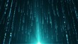 Abstract background with animation falling glittering particles as festive rain. Animation of seamless loop.