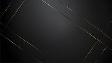 Luxury Black Background Banner Vector Illustration With Gold Strip Art Deco Black Color