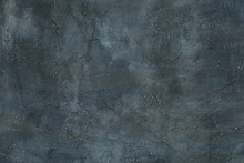 Abstract Grunge Art Decorative Design Gray Blue Dark Stucco Concrete Background Unique Wall Texture