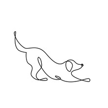 Dog Line Art Logo
