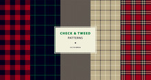 Check And Tweed Seamless Patterns Set