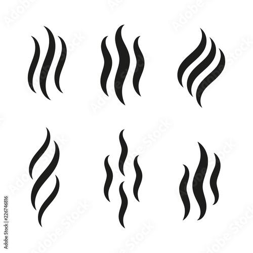 Obraz Smell icons. Smoke steam silhouette icon illustration - fototapety do salonu