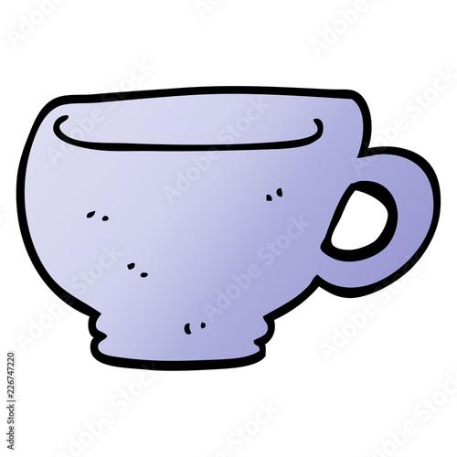 Fototapeta cartoon doodle cup obraz na płótnie