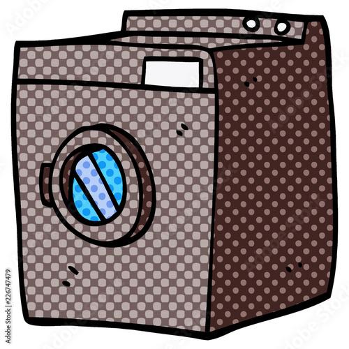 Photo  cartoon doodle tumble dryer