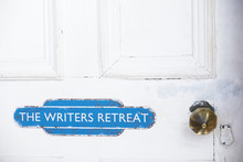 Writers Retreat Door Sign At E...