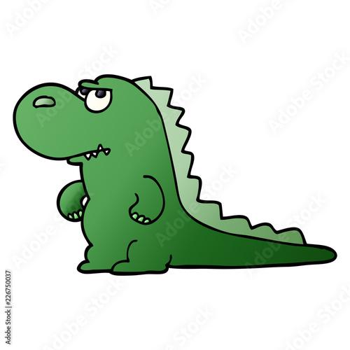 Fotografie, Obraz  cartoon doodle annoyed dinosaur