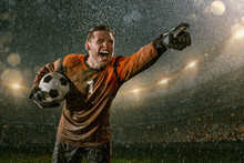 Soccer Goalkeeper On Professio...