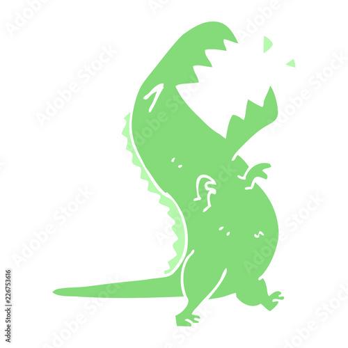 Fotografía cartoon doodle roaring t rex