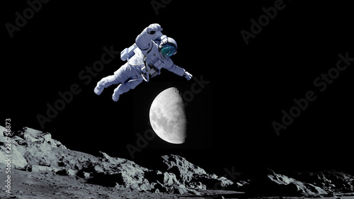 astronaut outer space.moon.space.elements of this image furnished by NASA