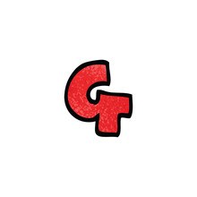 Cartoon Doodle Letter G